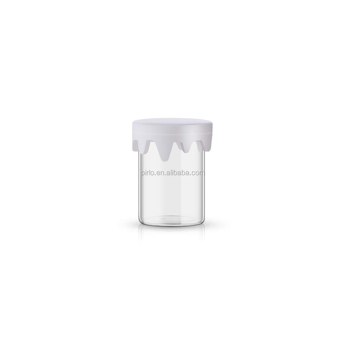 2ml 3ml 4ml 6ml 8ml 10ml concentrate container hem packaging concentrate glass jar with silicon drippy lid