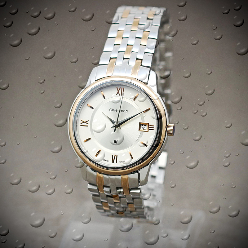 Exclusive offer water resistant brand watches men with SS strap