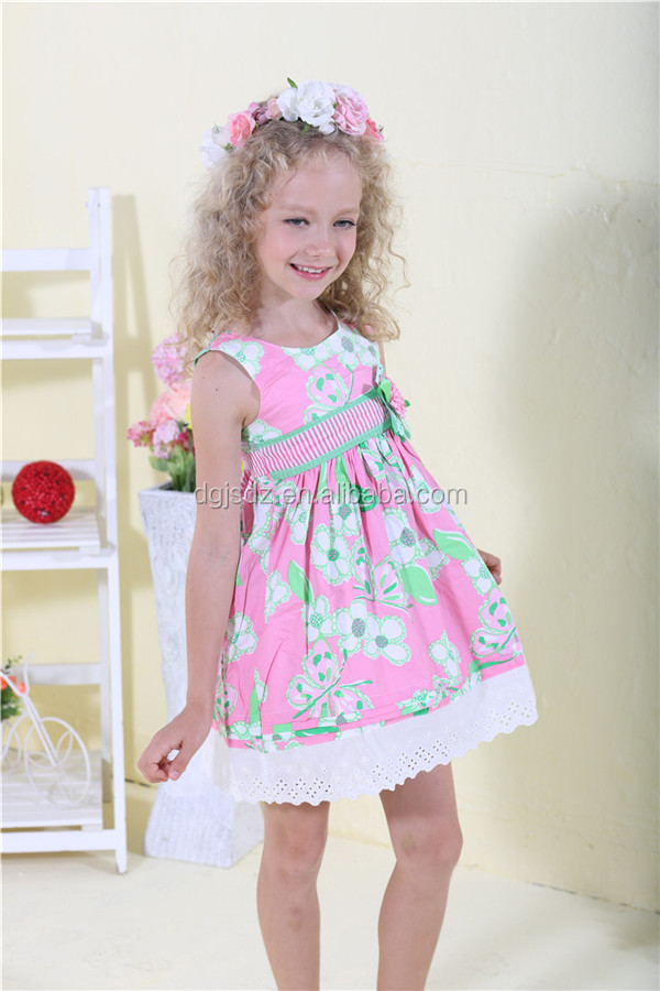 Flower Dress For Girl Of 5 Years Old Girls Cotton Dresses Frock ...