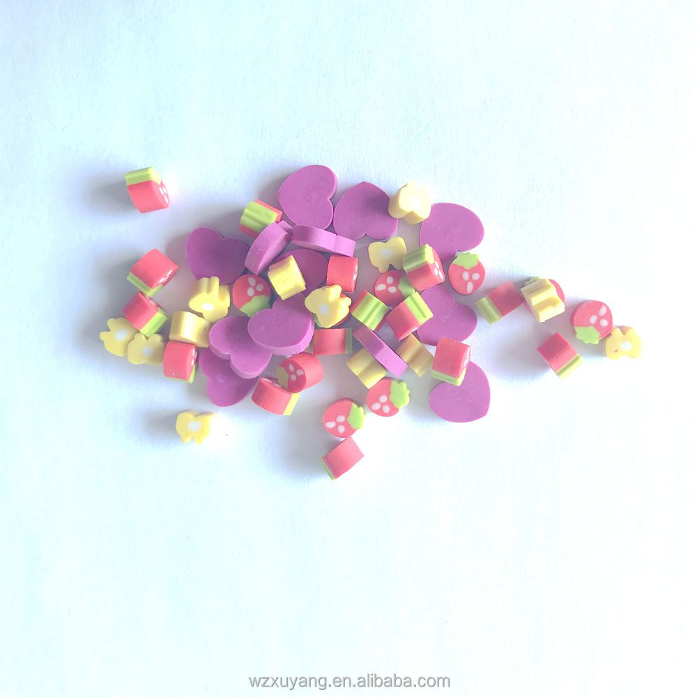 Funny mini fruit and heart flower penci rubber bulk customer eraser,wholesale stationery,