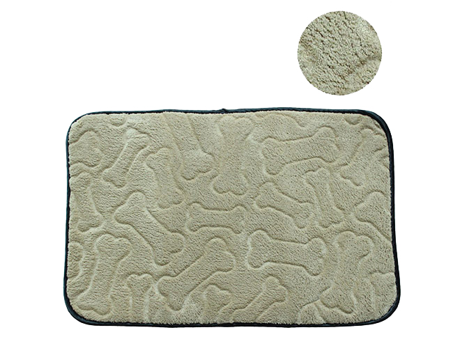 Pet food mat with bone printed, anti-slip dog feeding mat