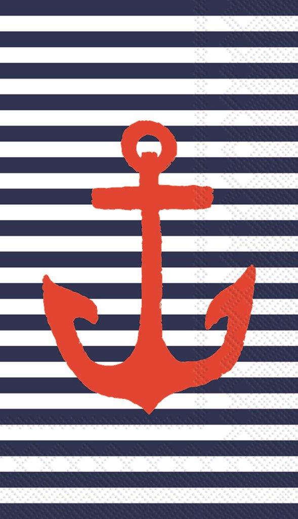 Nautical Anchor Napkins 48 ct
