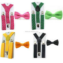 Wholesale 1 Set Toddler Baby Boys Girls Suspenders Bow Tie Set Kids Clip on