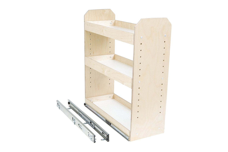 "Slide-A-Shelf AMC-PL-3TT-9W18D20H-F Baltic Birch Adjustable 3 Tier Tower with Full Extension, 9"" x 18"" x 20"""