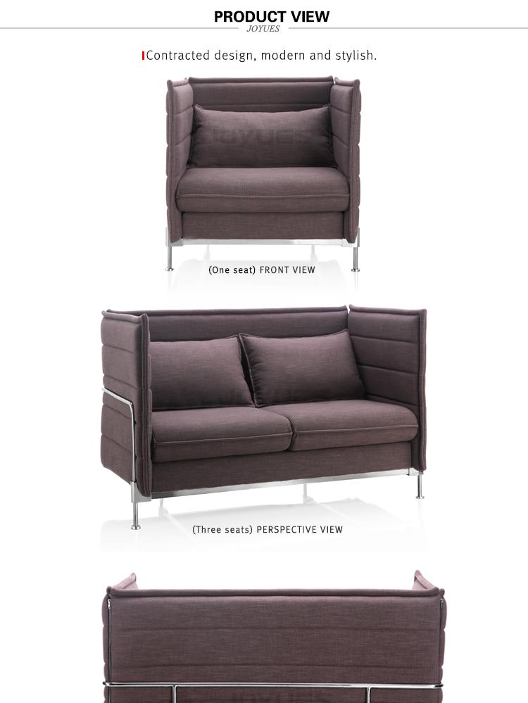 Modern 2 Seater Widen Office Fabric