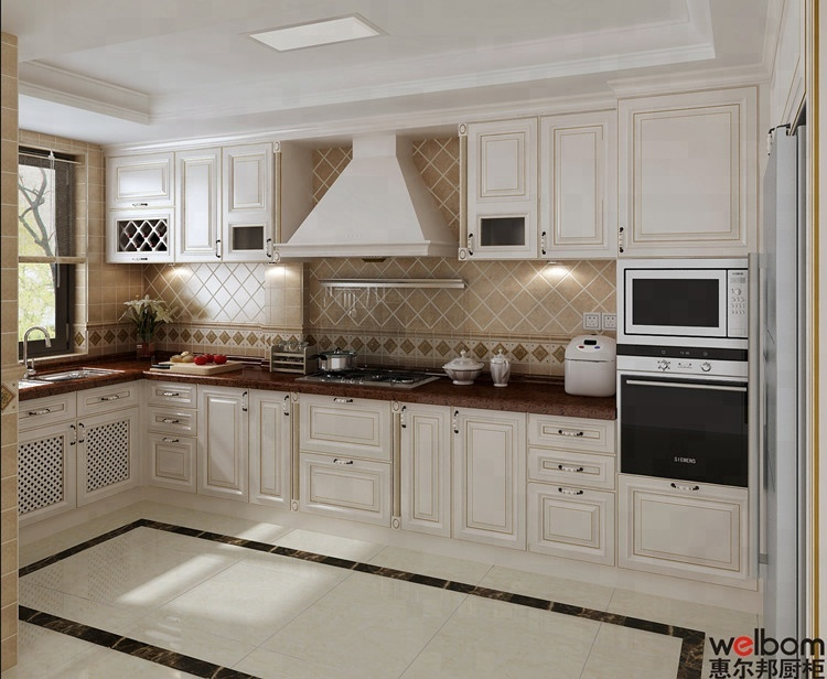 Welbom Beige Paint Birch Wood Glazed American Kitchen Cabinet Buy American Kitchen Cabinet Birch Wood Kitchen Cabinet Baked Paint Kitchen Cabinets Product On Alibaba Com