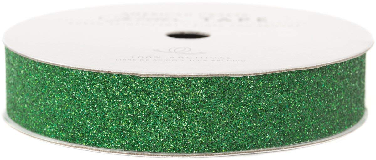 Evergreen Green 3//8-Inch American Crafts Glitter Tape