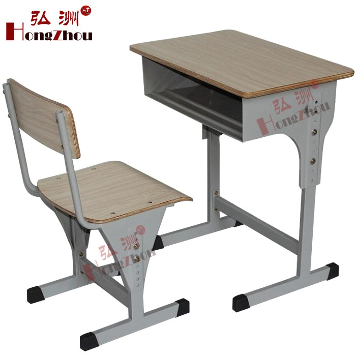 Cheap price Used School Furniture for sale Height Adjustable Desk and chair