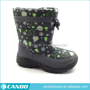 Polar Girl's Quilted Waterproof Hiking Duck Mid Calf Winter Muck Walking Boots