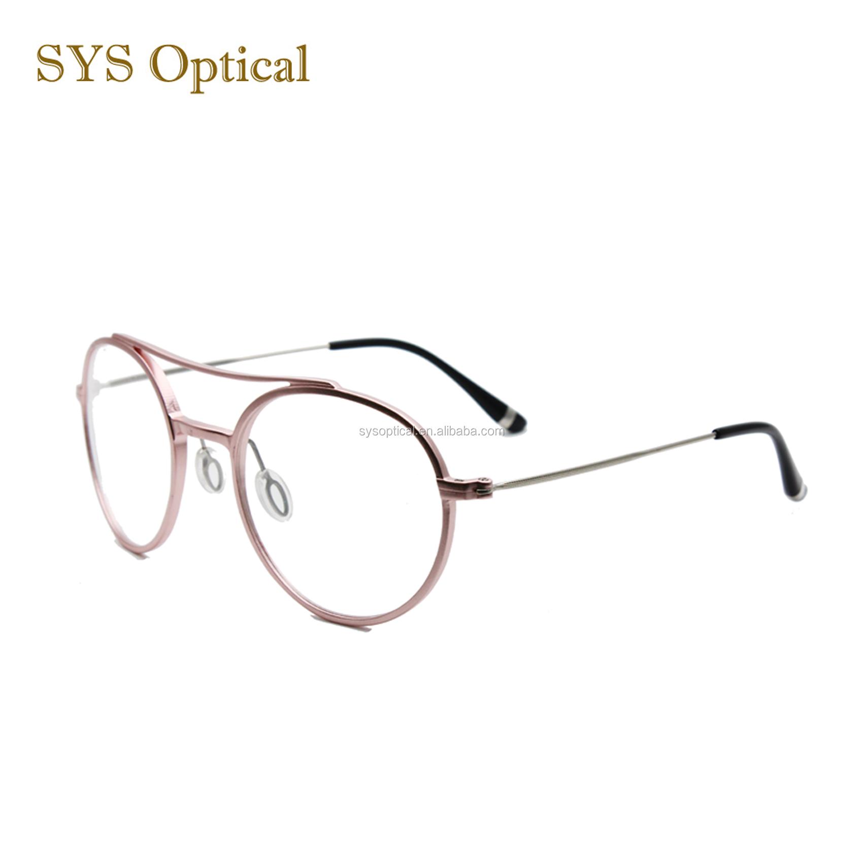 11b0c2cacb84 Korean french style vintage double bridge round frame optical eyeglasses