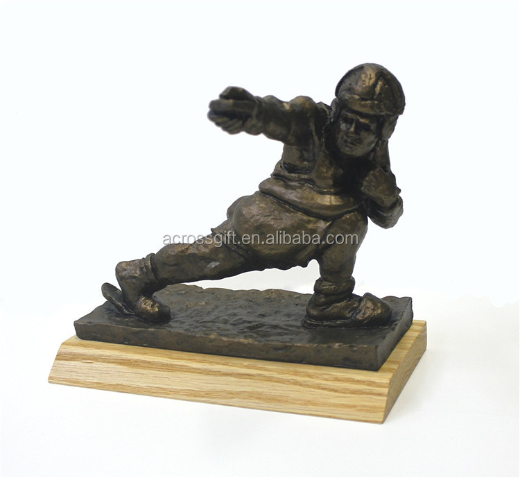 customized handmade painted decorative MINI Football Trophy