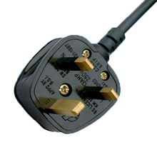 Male and Female Plugs 3 Pin UK Retractable Power Extension Cord