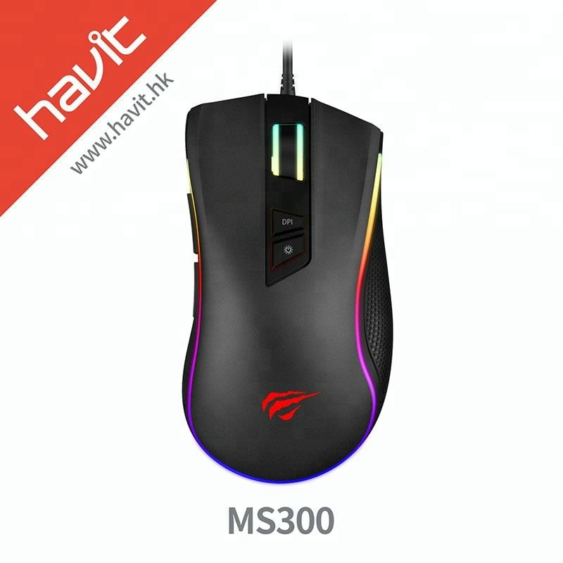 HAVIT Gaming Mouse 4000DPI Programmable 7 Buttons Backlit USB Wired Optical