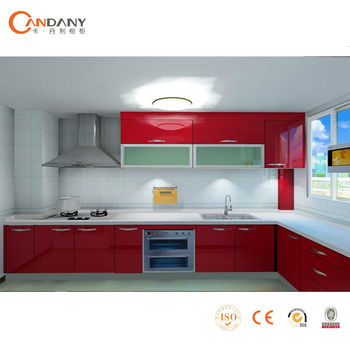 elegant red pvc kitchen cabinet,buy kitchen cabinets online - buy