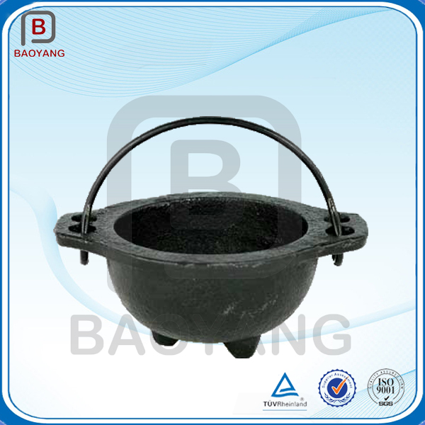 Manufacturing enamel coated cookware cast metal iron pot