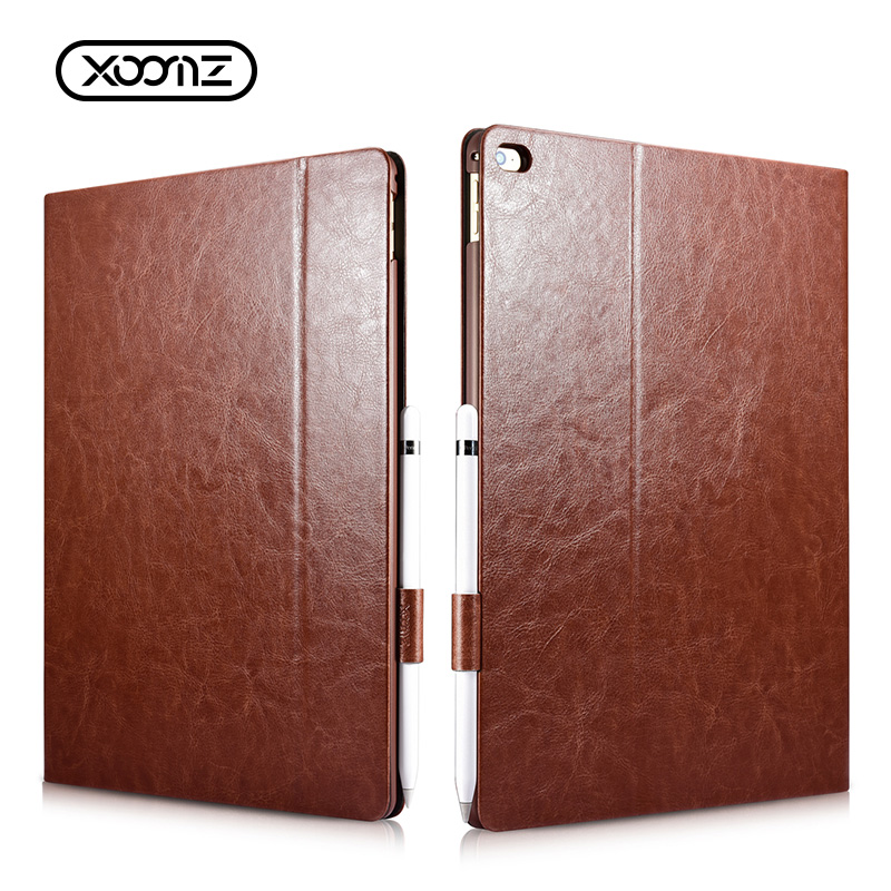 Book Style Shockproof PU Leather Tablet Folio Cover Case for <strong>iPad</strong> Pro 12.9