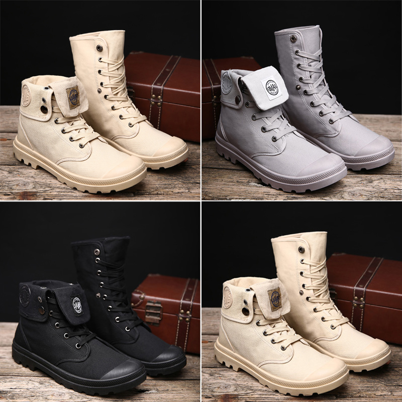 2019 Customized Cheap High Neck Canvas Boots Casual Fashion Sneakers For Men Breathable Sport Shoe 1328
