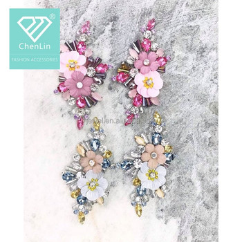 43d8280be8 Customized Patch Colorful Sequin Beads Flowers Handmade Flower Sew On  Patches Wholesale - Buy Decorative Handmade Flowers For Dresses,Handmake  Sequin ...
