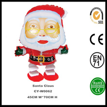 whoelsale kerst feest decoraties speelgoed <span class=keywords><strong>kinderen</strong></span> wandelen santa claus opblaasbare <span class=keywords><strong>helium</strong></span> ballon