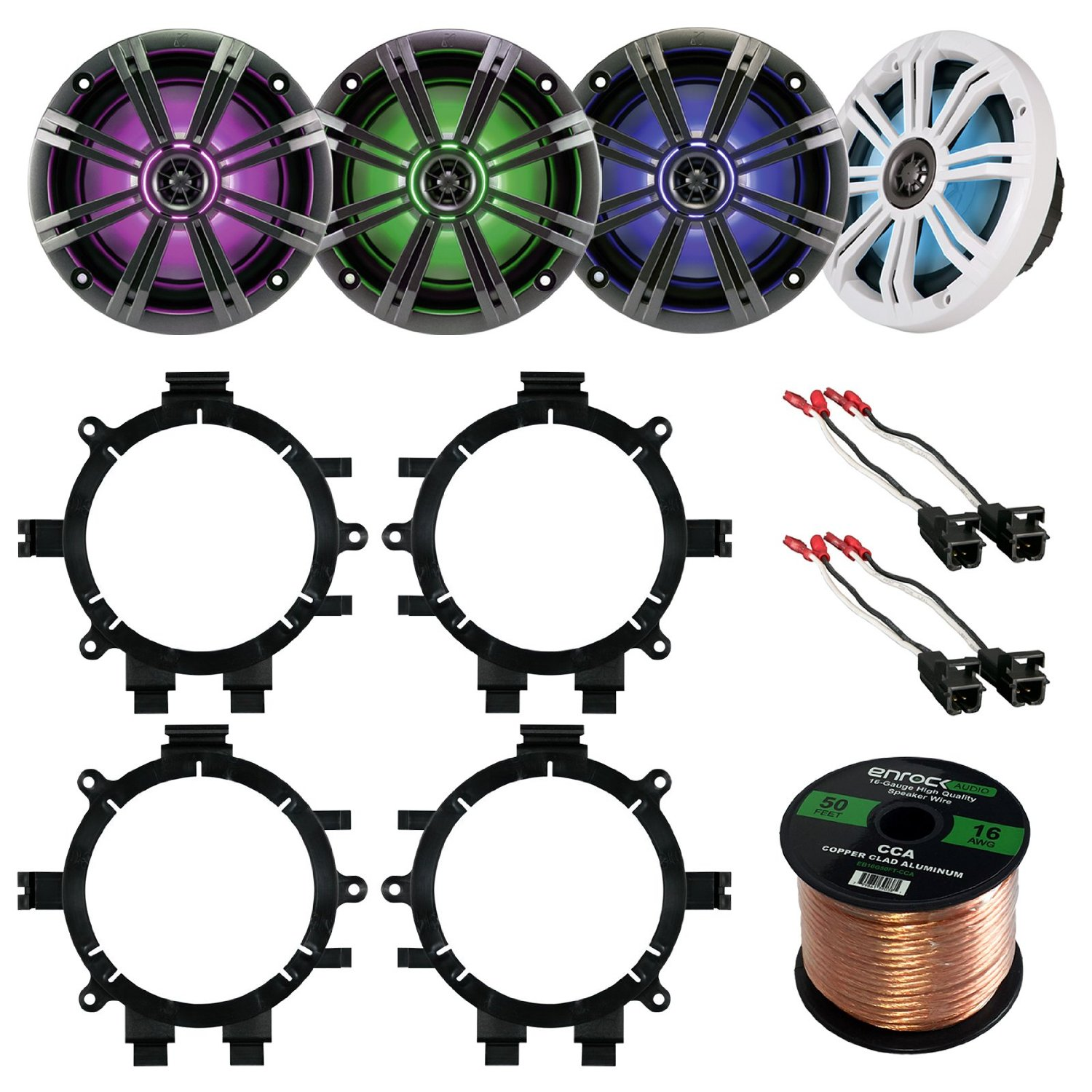 Cheap Car Speaker Wiring Diagram Find Audio Get Quotations Bundle Combo 2 Pairs Of Kicker 43km654lcw 65 Inch Way