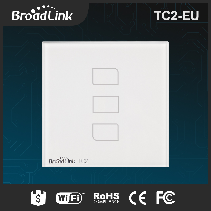 BroadLink TC2 EU standard modern electrical light switches 3 gang Touch Button and Remote Control