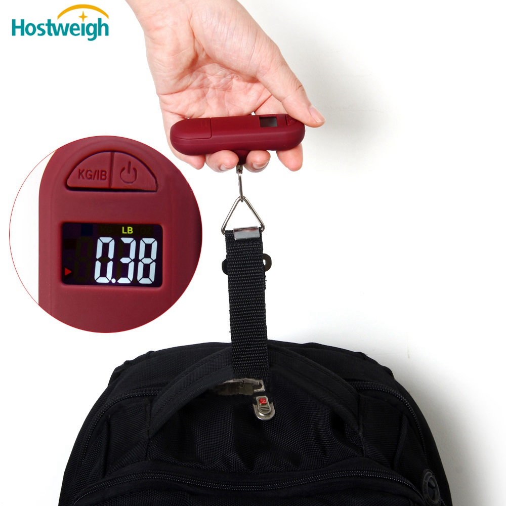 digital luggage scale for suitcase scale shopping with black strap and hook scale LCD