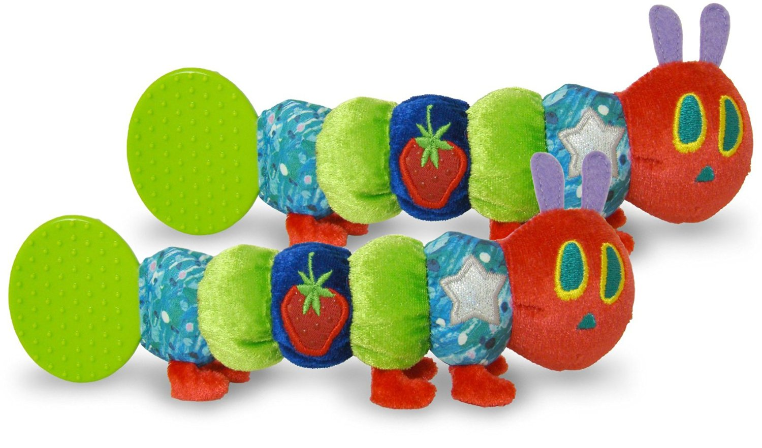 The World of Eric Carle: The Very Hungry Caterpillar Teether Rattle by Kids Preferred, Set of 2