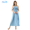 2018 New Women Ladies Suspender Casual Denim Dress