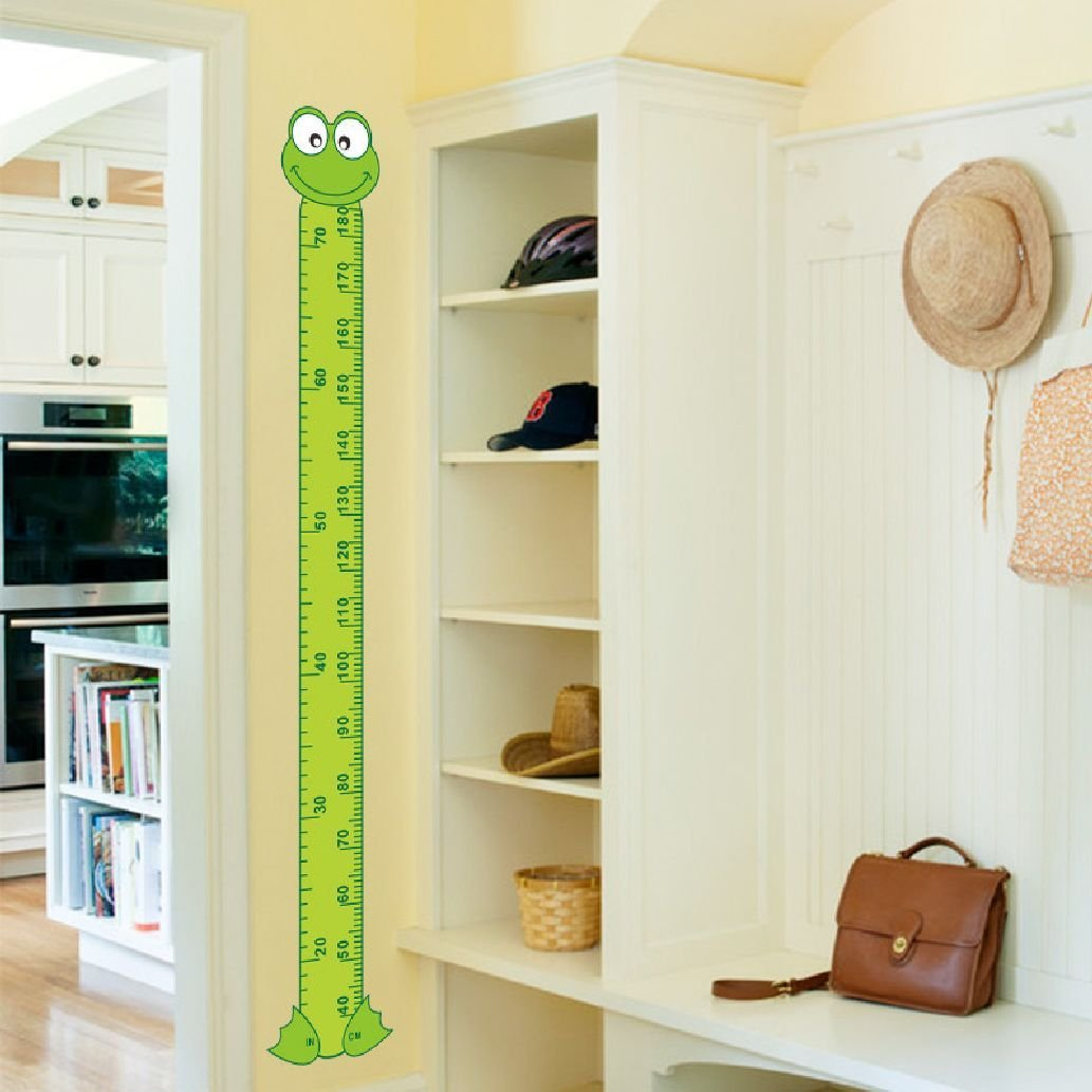 Suyunyuan DIY cute 3D cartoon Frog Green baby children height measure wall stickers kids room decoration child play room growth chart