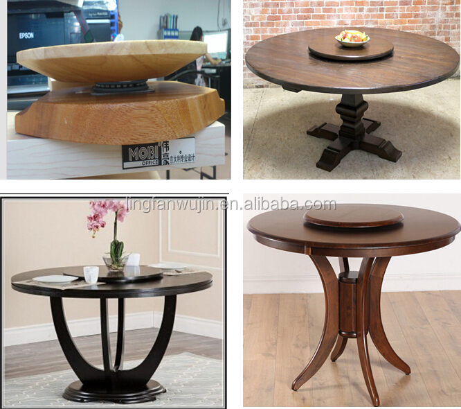 Made In China 3 Square Ball Bearing Swivel Plate Round Dining Table Lazy Susan