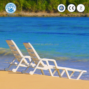 Hot Sale Eco-friendly Cheap Price Outdoor White Plastic Sun Lounger
