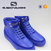 2019 High Quality Blue Suede leather and embroidery logo for Guangzhou sneaker factory