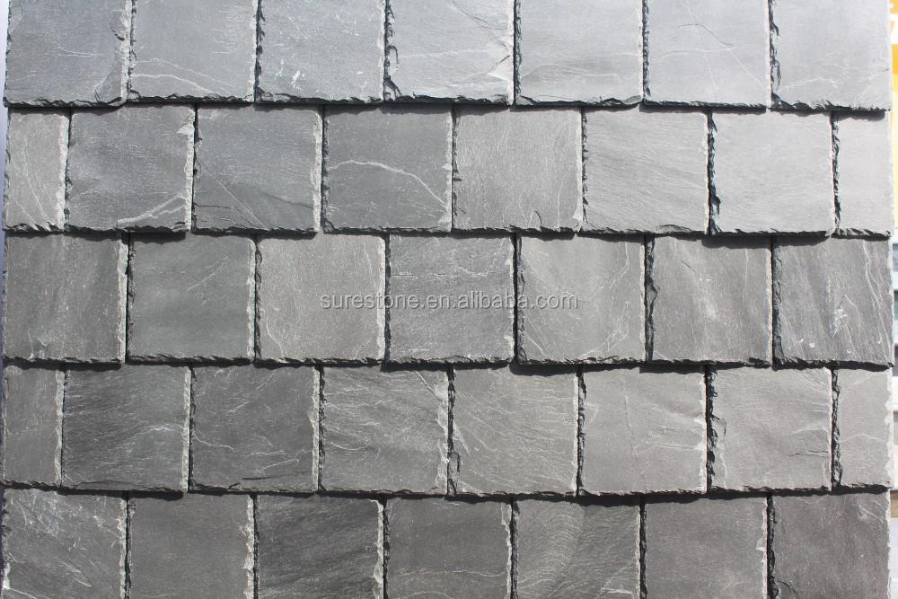 Roofing Slate Natural Slate Roof Covering Tiles Black