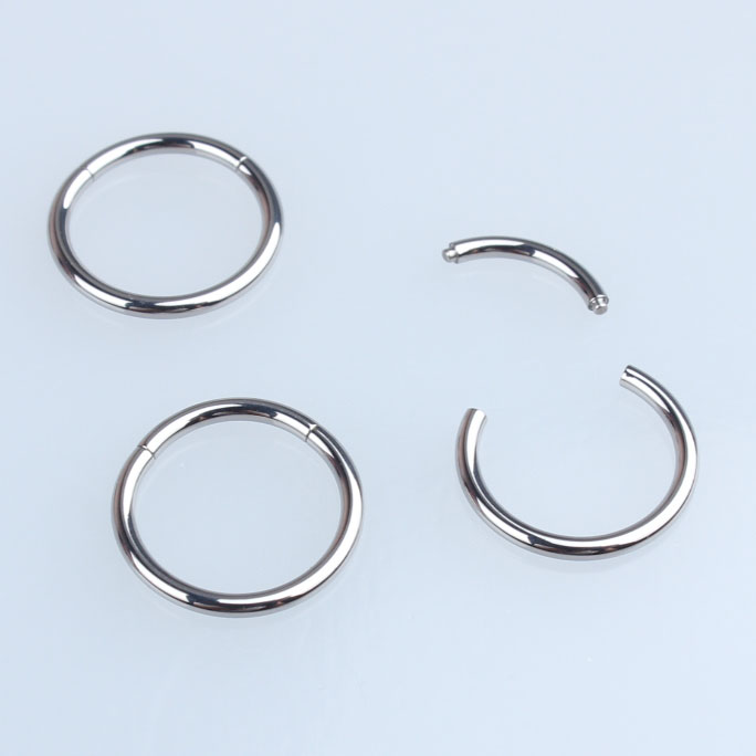 Jewelry & Watches G23 Titanium Body Piercing Segment Ring Ear Nose Nipple Hoop Piercing Jewelry Fashion Jewelry