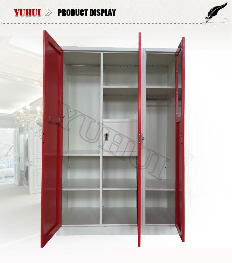 New design modern bedroom furniture indian style 3 door for Furniture wardrobe design india