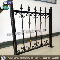 Factory production OEM galvanized wrought iron ornaments fencing