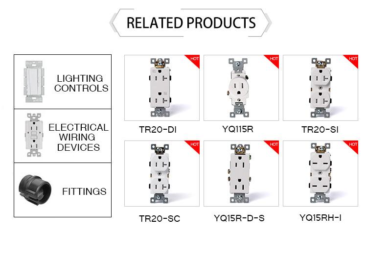 Fonte da fábrica EUA Tipo PC Tomada Elétrica tomada de Parede UL Listado