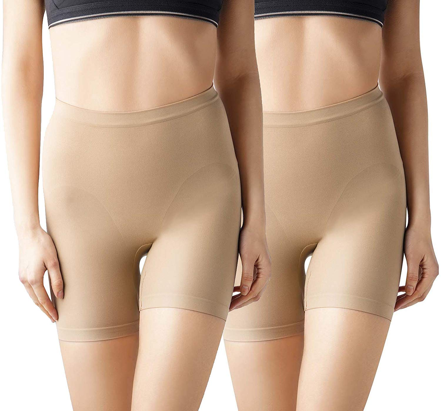 3fae6a4493fc5 MD Women s Seamless Shapewear Mid Thigh Tummy Shaper Slimmer Power Shorts