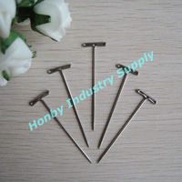 Dissecting silver color steel T head pin