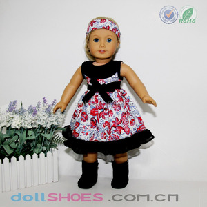 flower pattern evening dress for 18 inch american girl doll