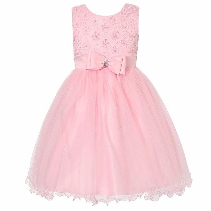 Child Formal Dress Design Girls Pink