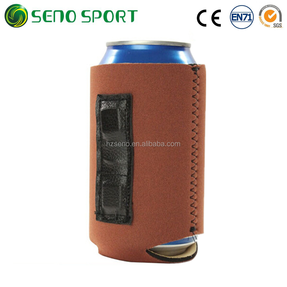 Custom Color Magnetic Neoprene Can Holder Cooler For Beer