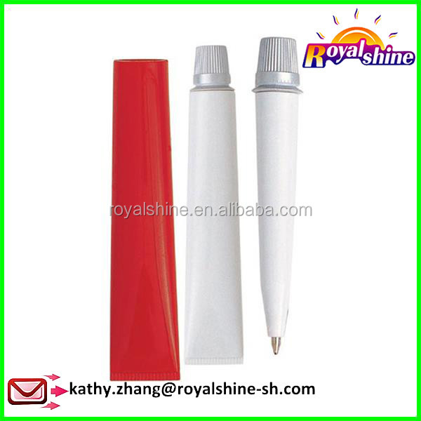 Promotional Gift Cartoon Tooth Paste Shape Pen Writing Custom Pen