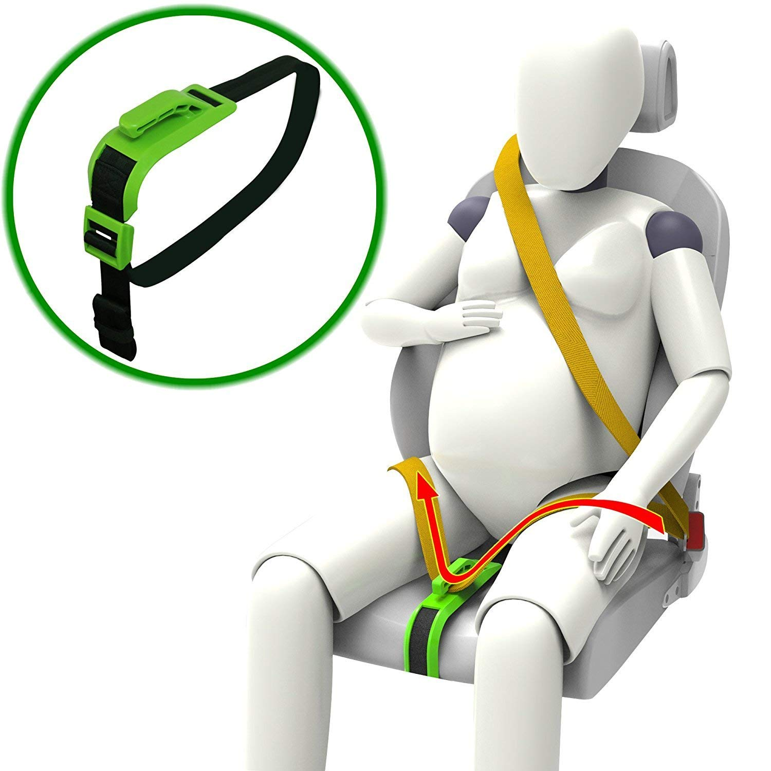 c96a0cae1c500 Get Quotations · Zuwit Bump Belt, Maternity Car Belt Adjuster, Comfort &  Safety for Pregnant Moms Belly