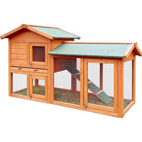 New style bunny hutch wooden rabbit house wholesale