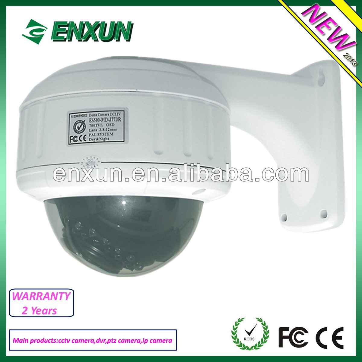 2.8-12mm Varifocal 2M Pixels Lens Vandal Proof IR dome Camera CCTV camera
