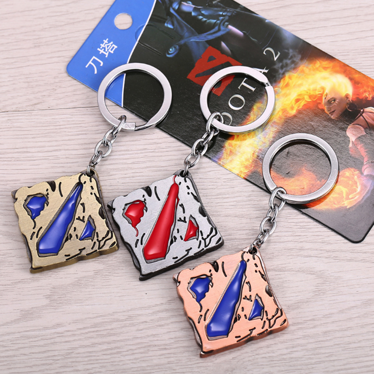 Cheap high quality enamel key holder custom metal keychain