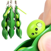 Popular Squishy Beans Antistress Peas Stress Relief Novelty Gag Toys Squishes Gadget Funny Gift For Children Squeeze Pendants