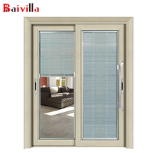 Aluminum frame hermetic glass kitchen shutters door with roller
