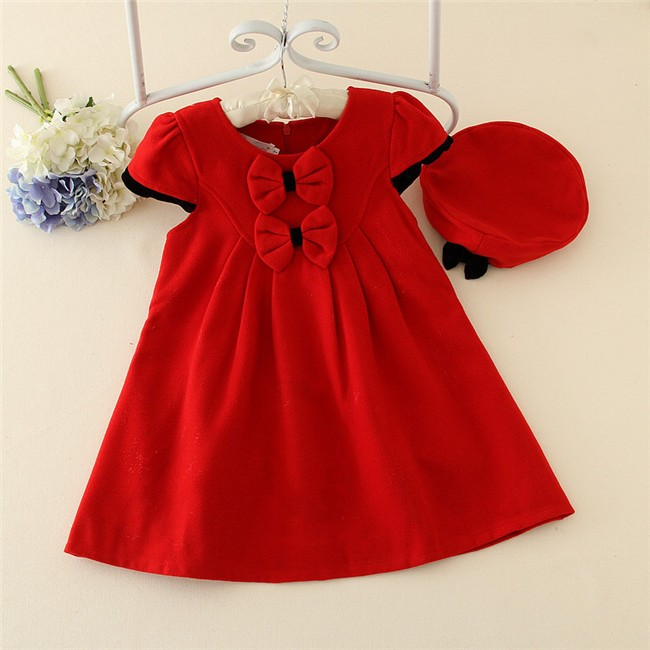 9f6a25492 Red baby girl dress design winter kids wear ,children frocks designs for  winter